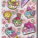 Q-Lia Sweets and Desserts Sparkly 3D Shakers Sticker Sheet