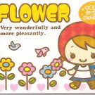 Kamio Flower Girl Mini Memo Pad