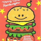 Kamio Very Cute Hamburger Mini Memo Pad