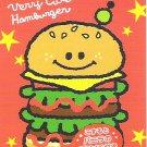 Kamio Very Cute Hamburger Mini Memo Pad