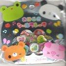 Kamio Kawaii Animals Frog, Panda, Bear, and Pig 3D Sticker Sack