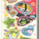 Crux Kawaii Sushi Rolls and Friends 3D Shakers Sticker Sheet