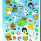 Q-Lia Japanese Folktale Animals Sticker Sheet