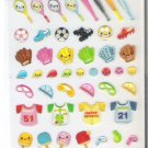 Pool Cool Sports Equipment Sparkly Sticker Sheet