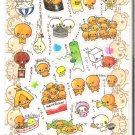 Crux Natto Chan and Friends Super Super Sparkly Sticker Sheet