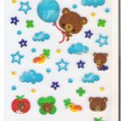 Preco The Cloudy Day Bear Sparkly Sticker Sheet