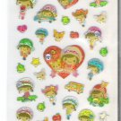 Crux Apple Town Friends Sparkly Sticker Sheet with Rhinestones