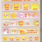 CSI Hamu Burger 3D Blocks Mini Sticker Sheet