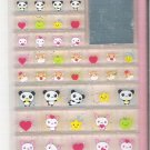 Q-Lia Animarurinrin Pandas, Hamsters, and Bunnies 3D Blocks Sticker Sheet
