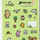 San-X Pinny Mu Green Nature Large Sticker Sheet