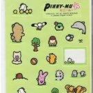 San-X Pinny Mu Green Nature Large Sticker Sheet