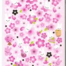 Kamio Bunnies and Pink Sakura Blossoms Washi Sticker Sheet