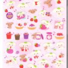 San-X Berry Puffy Sparkly Pink Sticker Sheet