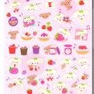San-X Berry Puffy Sparkly Pink Sticker Sheet