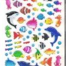 Mind Wave Marine Life Aqua Parade Hard Epoxy Sticker Sheet