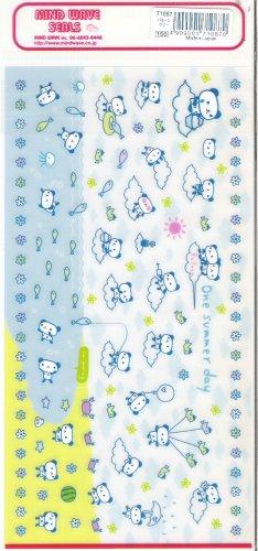 Mind Wave One Summer Day Pandas and Beach Fun Sticker Sheet
