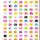 Mind Wave Colorful Mini Pigs Sticker Sheet
