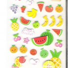 Korean Happy Fresh Fruits Mini Sticker Sheet