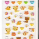 Korean Blue Sky Kittens and Fish Mini Sticker Sheet