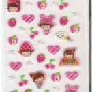 Korean Blue Sky Funny Story Pink Girl Mini Sticker Sheet
