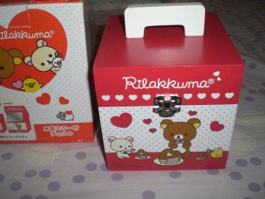 San-X Rilakkuma Hearts and Pancakes Jewelry Storage Box