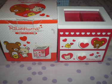 San-X Rilakkuma and Friends Hearts Red and White Jewelry Box