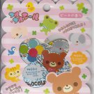 Q-Lia Chocolate Bear and Friends Sticker Sack