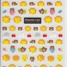 Kamio Cheerful Lion and Friends Sticker Sheet