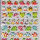 Q-Lia Smile Cutie Colorful Friends Puffy Glittery Sticker Sheet