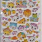 Crux Kawaii Pet Shop Glittery Hard Sticker Sheet