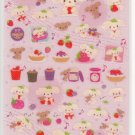 San-X Berry Puppy Berries Glittery Sticker Sheet