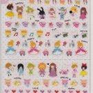 Kamio Fairy Tales, Alice in Wonderland, Cinderella, Snow White, Little Mermaid Sticker Sheet