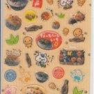 Q-Lia Onigiri, Croquettes, and Rice with Natto Glittery Sticker Sheet