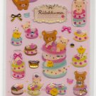 San-X Rilakkuma Bear and Friends Macarons and Sweets Pink with Rhinestones Sticker Sheet