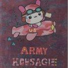 Q-Lia Army Kousagi Pink #1 Memo Pad