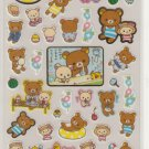San-X Rilakkuma Bear Summer Fun Sticker Sheet