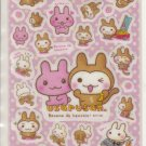 Media Factory Usaru san Pink Bunny Sparkly Sticker Sheet
