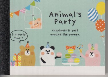 Crux Animal's Party Blue Mini Memo Pad