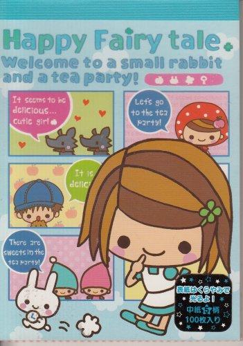 Q-Lia Happy Fairy Tale Blue Memo Pad
