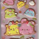 Crux Pudding Animals Puffy with Rhinestones Sticker Sheet