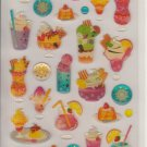 Mind Wave Summer Desserts Special Collection Sparkly Sticker Sheet