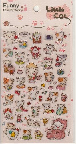 Funny Sticker World Little Cat Sticker Sheet