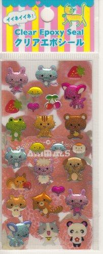 Lemon Co. Kawaii Sparkly Friends Mini Sticker Sheet