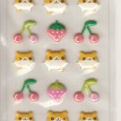 Lemon Co. Hamsters, Strawberries, and Cherries Puffy Mini Sticker Sheet