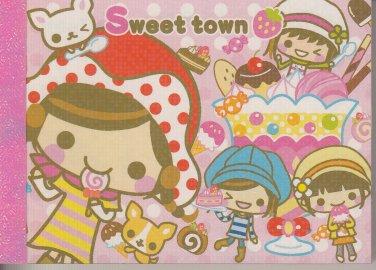 Crux Sweet town Girlfriends Desserts Mini Memo Pad