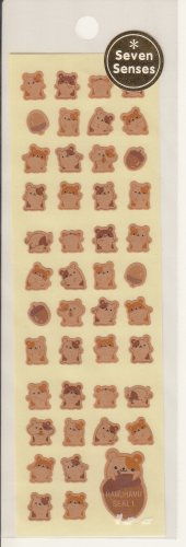 Seven Senses Hamster and Nuts Sticker Sheet