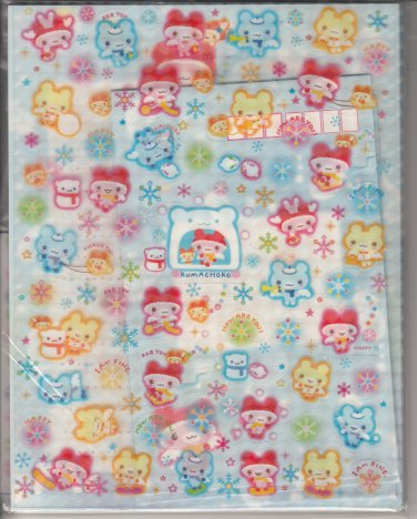 San-X Kumachoko Winter Bears Letter Set