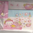 San-X Momo Panda Onsen Hot Springs Pink Letter Set