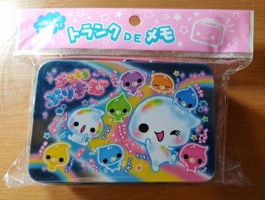 Crux Rainbow Water Bubble Friends Memo Tin with Mini Memo Sheets