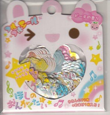 Q-Lia Musical Bunnies and Friends Sticker Sack